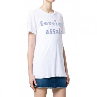 Zoe Karssen White Foreign Affair Printed Top