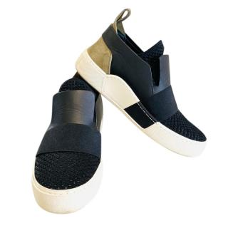 Balenciaga Suede, Leather & Canvas Slip-On Sneakers