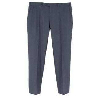Brioni Blue Cashmere Portovenere Tailored Trousers