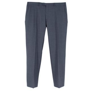 Brioni Blue Cashmere Portovenere Tailored Trousers