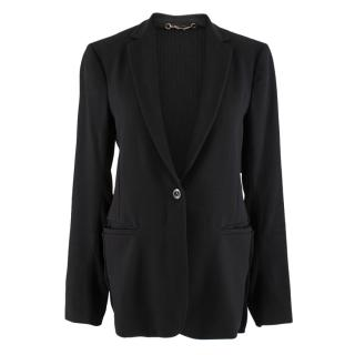 Gucci Black Wool Insert Single Breasted Blazer