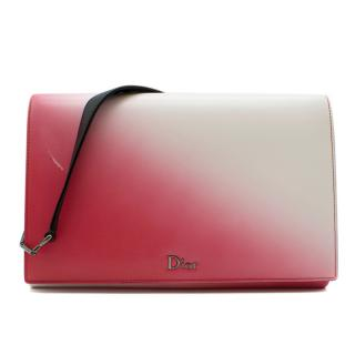 Dior Pink & White Ombre Leather Cruise Flap Bag