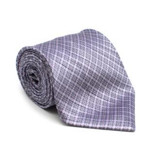 Stefano Ricci Purple Floral Patterned Silk Tie