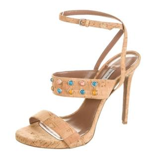 Tabitha Simmons open-toe strappy cork sandals