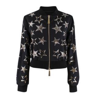 Flavio Castellani Black Embellished Bomber Jacket