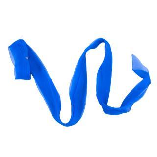 Christian Dior Blue Silk Ribbon Wrap Choker
