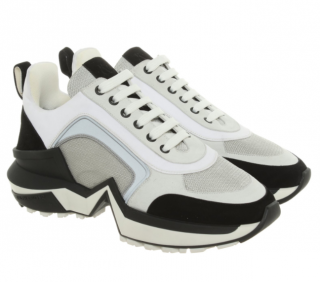 Ralph & Russo White Silver & Black Chunky Trainers