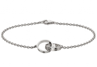 Cartier 18kt White Gold Baby Love Bracelet
