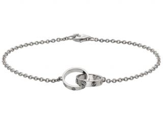 Cartier 18kt White Gold Baby Love Bracelet