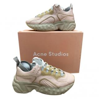 Acne Studios Pale Pink Manhattan Sneakers