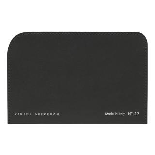 Victoria Beckham Black Leather Flat Card Holder