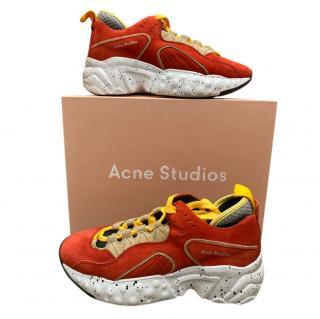 Acne Studios Burnt Orange Manhattan Sneakers