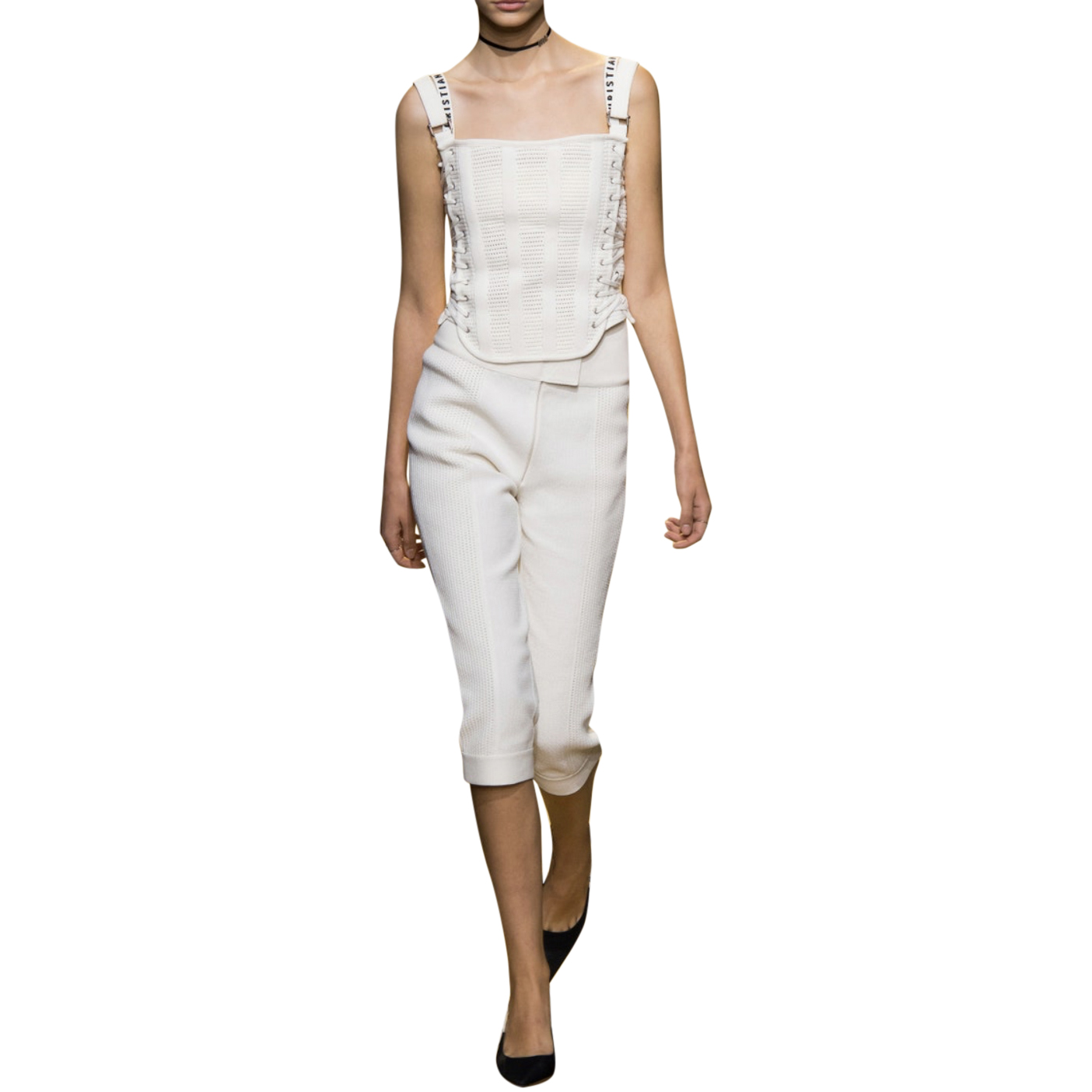 Dior Cream Tailored Cropped Pants