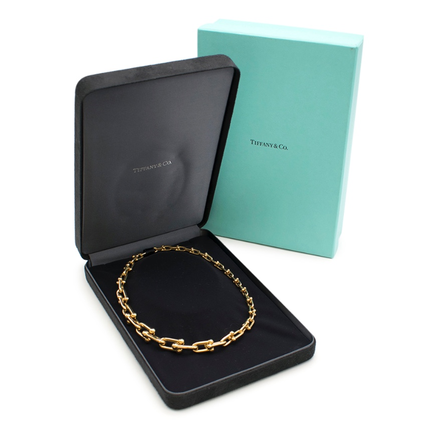 Tiffany & Co 18k Yellow Gold City HardWear Graduated Link Necklace