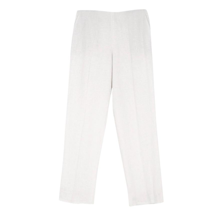 Hermes Linen Straight Leg Trousers