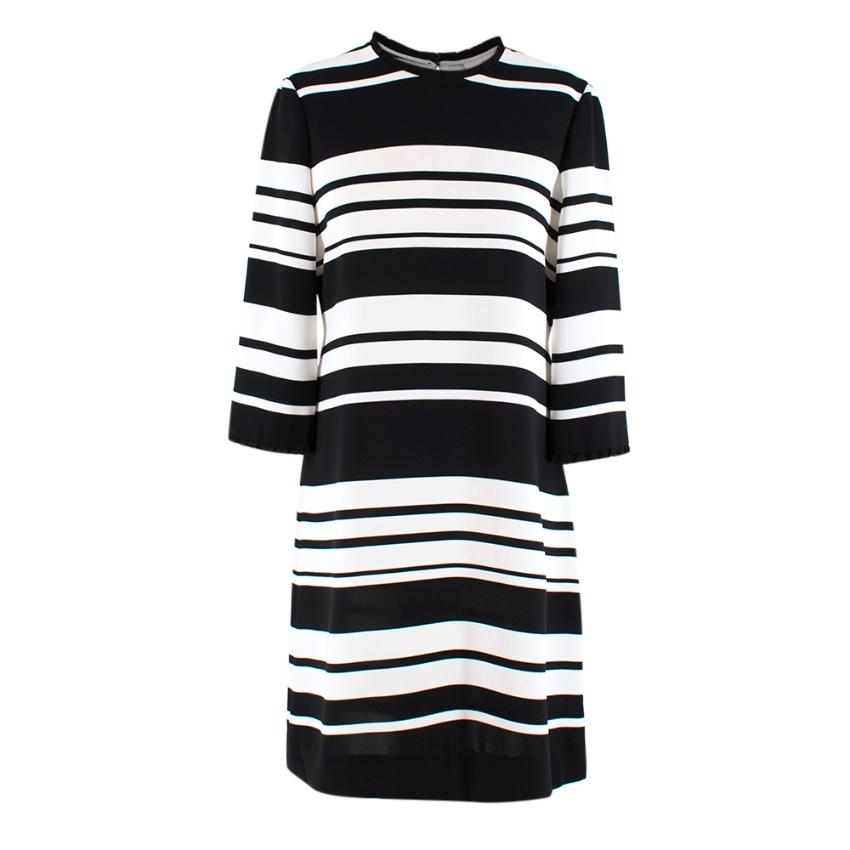 Kate Spade Black and White Striped Slip Dress