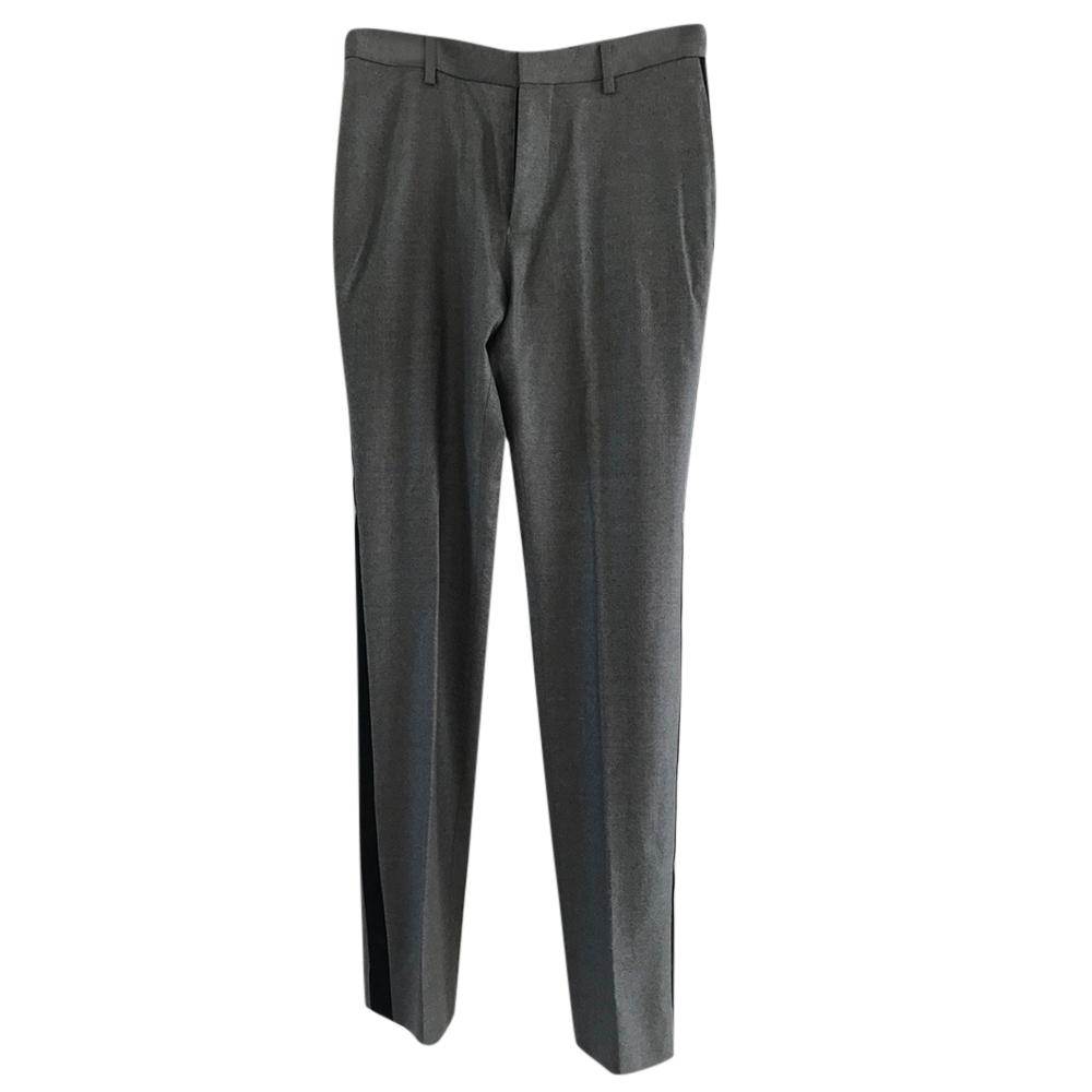 Balenciaga Grey wool Trousers with Side Stripe