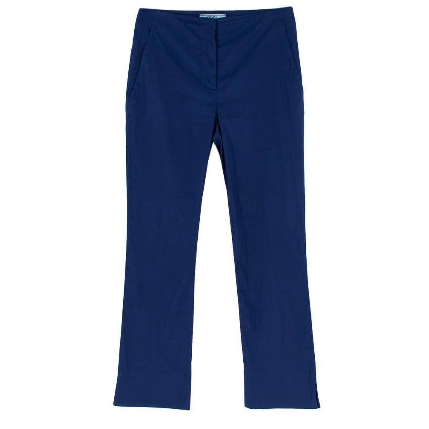 Prada Blue High Waisted Cigarette Trousers