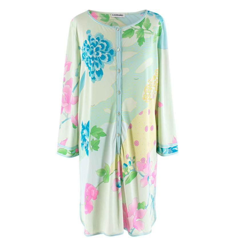 Leonard Green & Blue Printed Shirt Dress