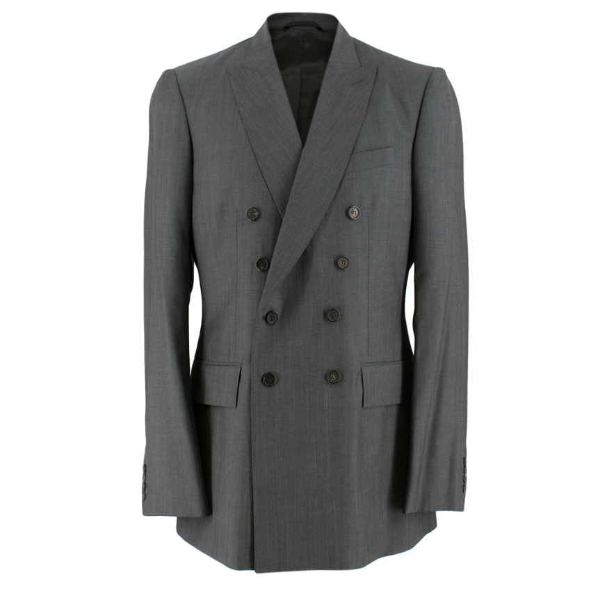 Burberry Wool-Mohair Double Breasted Jacket