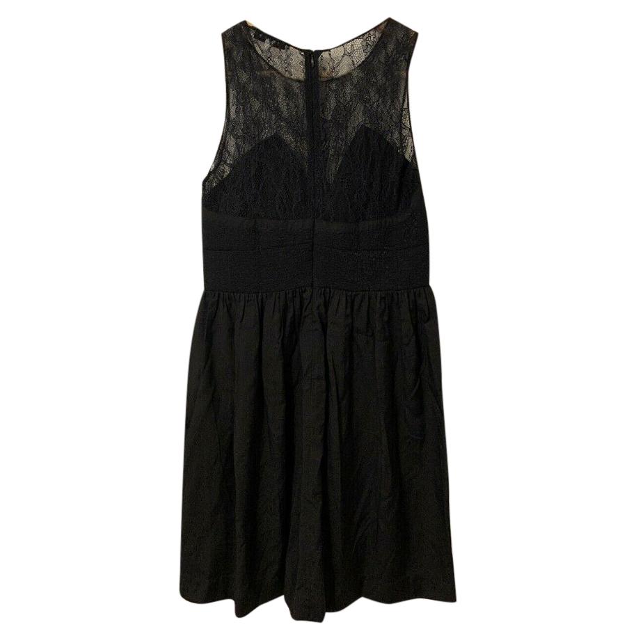 Sandro Black Lace Panelled Mini Dress