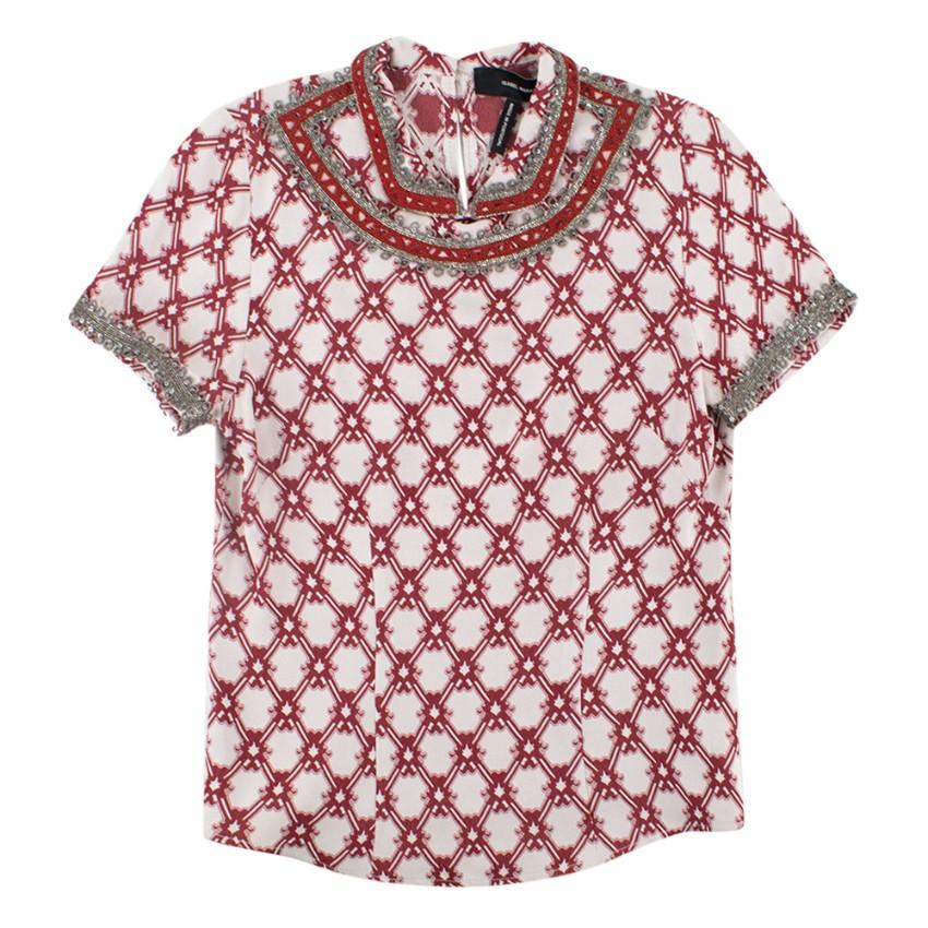 Isabel Marant Mallonia Beaded Crepe shirt