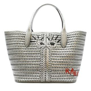Anya Hindmarch Silver The Neeson Girly Eyes Tote