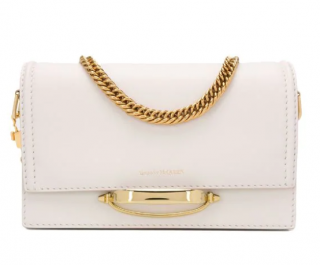 Alexander McQueen White The Story Shoulder Bag