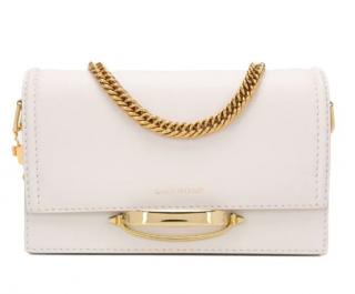 Alexander McQueen White The Story Shoulder Bag