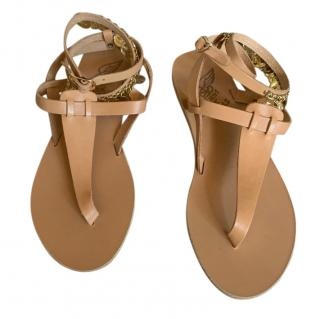 Ancient Greek Sandals Chain Wrap Sandals