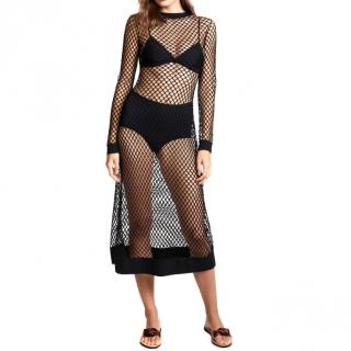 Dodo Bar Or Black Adeline Fish Net Dress