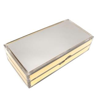 Jimmy Choo Mirrored-Acrylic  Box Clutch
