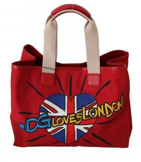 Dolce & Gabbana Red DG Loves London Tote Bag