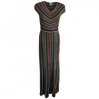 M Missoni Striped Cut-Out Back Dress