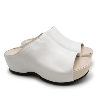 Rosetta Getty X Ecco White Otoe Clogs