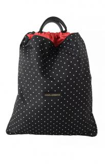 Dolce & Gabbana Polka Dot Drawstring Backpack