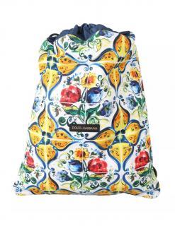 Dolce & Gabbana Majolica Print Drawstring Backpack