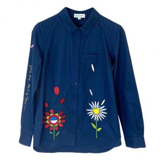 Mira Mikati Cotton Embroidered Shirt