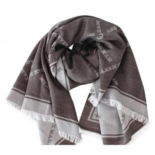 Max Mara Monogram Wool & Silk Reversible Shawl