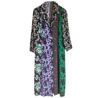 Rixo Multi-Print Midi Duster Dress