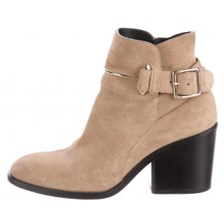 Balenciaga Suede Block Heel Ankle Boot