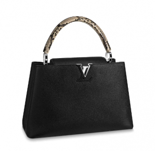 Louis Vuitton Capucines MM Python in Black