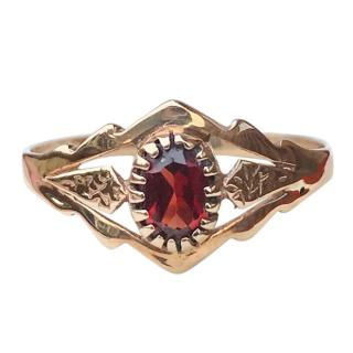 Bespoke 9ct Gold Garnet Ring