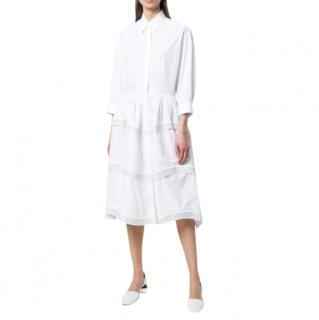 Alaia White Studded Shirt Dress