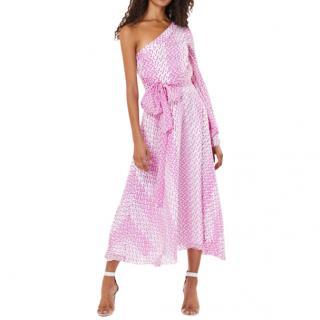 Safiyaa Valeria One Shoulder Midi Dress