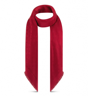 Louis Vuitton Red Monogram Silk & Wool Shawl