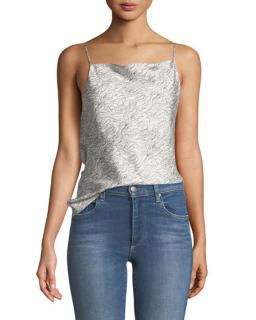 Theory summer wave twill cami top