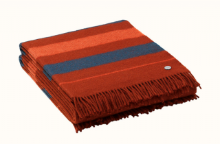 Hermes Rocabar Stripe Blanket