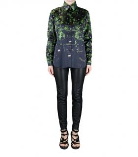 Givenchy Green & Black Panther Shirt