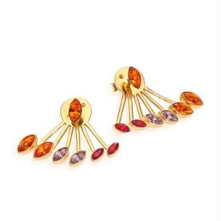Ca&Lou Evelyn Crystal Fan Earrings